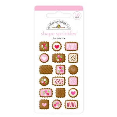 Doodlebug French Kiss - Chocolate Box Shape Sprinkles