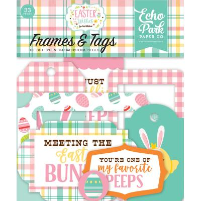 Echo Park Easter Wishes Die Cuts - Frames & Tags
