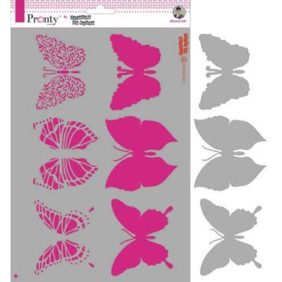 Pronty Mask Stencil - Butterflies