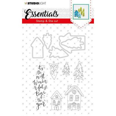 StudioLight Clear Stamps and Die Cut - Essentials Christmas Nr. 26