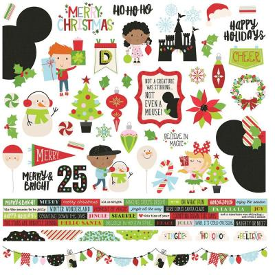 Simple Stories Say Cheese Christmas - Cardstock Stickerbogen