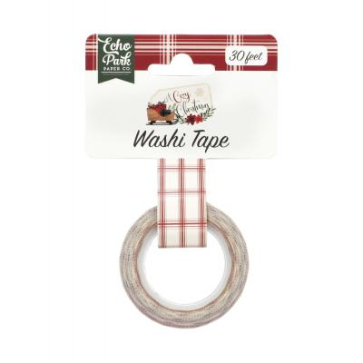 Echo Park A Cozy Christmas Washi Tape - Christmas Plaid