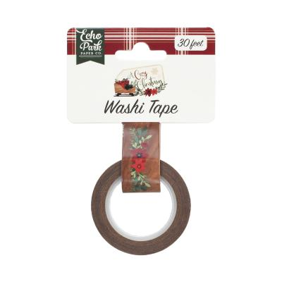Echo Park A Cozy Christmas Washi Tape - Floral Swag