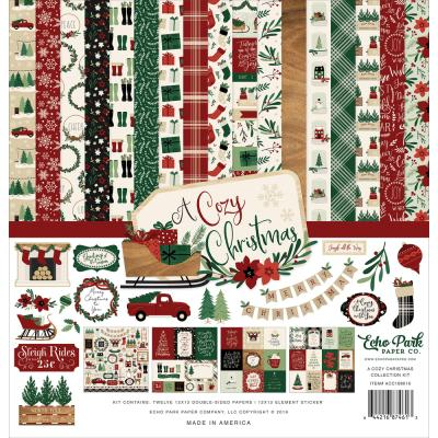 Echo Park A Cozy Christmas Designpapier - Collection Kit