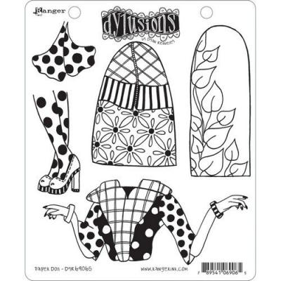 Ranger Dylusions Cling Stamps - Paper Doll