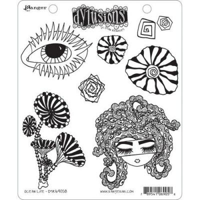 Ranger Dylusions Cling Stamps - Ocean Life
