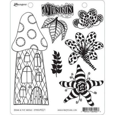 Ranger Dylusions Cling Stamps - Down in the Woods