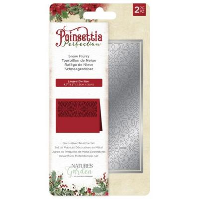 Crafter's Companion Poinsettia Perfection Stanzschablonen - Snowflurry