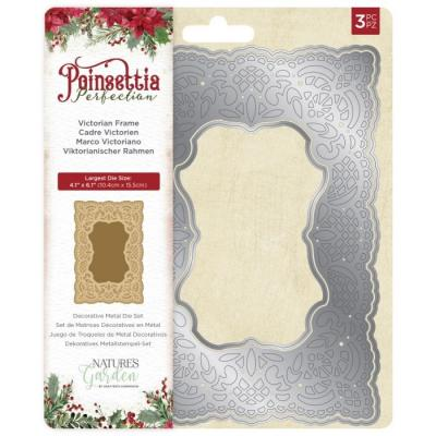 Crafter's Companion Poinsettia Perfection Stanzschablonen - Victorian Frame