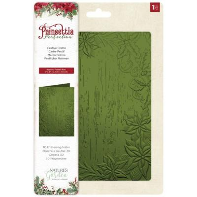 Crafter's Companion Poinsettia Perfection Embossingfolder - Festive Frame
