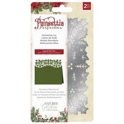 Crafter's Companion Poinsettia Perfection Stanzschablonen - Christmas Ivy