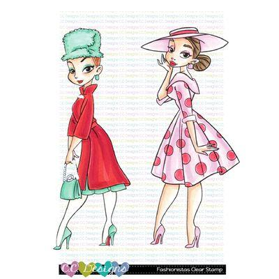 C.C. Design Clear Stamps - Fashionistas