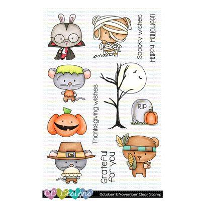 C.C. Design Clear Stamps - October & November