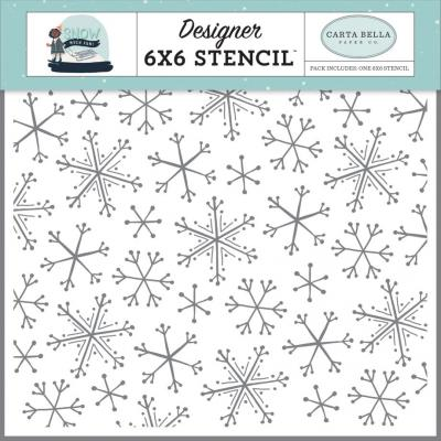 Carta Bella Snow Much Fun Stencil - Snowflake Fun