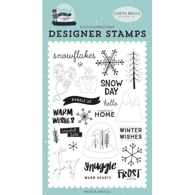 Carta Bella Snow Much Fun Clear Stamps - Frost and Ice
