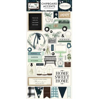 Carta Bella Home Again Die Cuts - Chipboard Accents