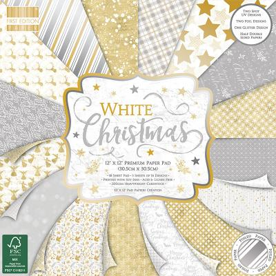 First Edition White Christmas Designpapier - Paper Pad