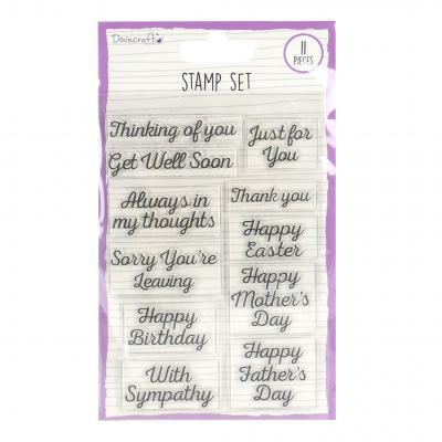 Dovecraft Clear Stamps - Occasion