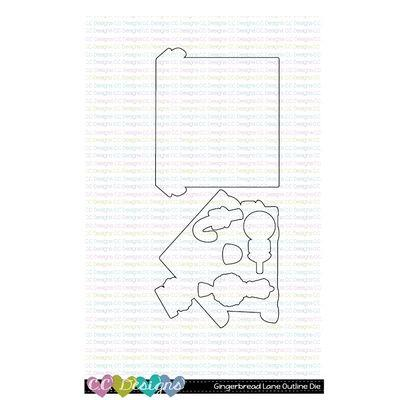 C.C. Designs Outline-Stanzschablonen - Gingerbread Lane