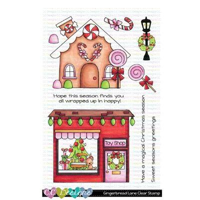 C.C. Designs Clear Stamps - Gingerbread Lane