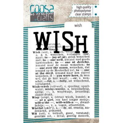 COOSA Crafts Clear Stamp - Wish