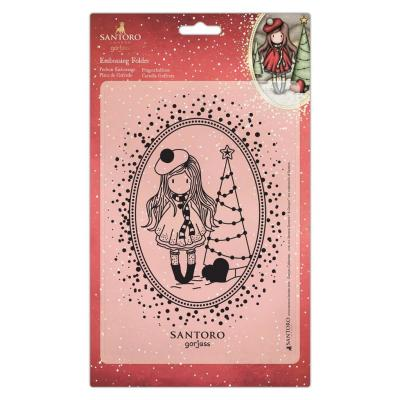 Santoro Gorjuss Embossing Folder - You Turn My World Upside Down