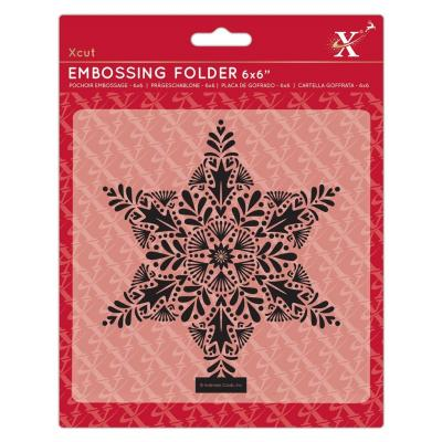 Xcut Embossing Folder -Foliage Star