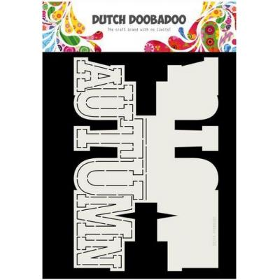 Dutch Doobadoo Schablone - Autumn Text