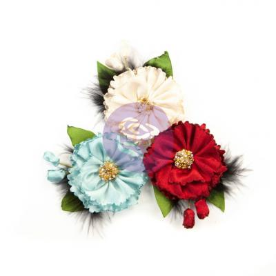 Prima Marketing Midnight Garden Flowers Embellishments - Midnight Elegance