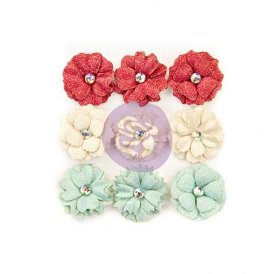 Prima Marketing Midnight Garden Flowers Embellishments - 11th Hour