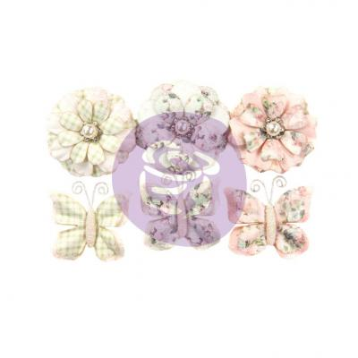 Prima Marketing Poetic Rose Flowers Embellishments - Dainty Dreams
