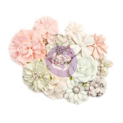 Prima Marketing Mulberry Paper Flowers Embellishments - Classic Beauty