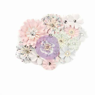 Prima Marketing Poetic Rose Flowers Embellishments - Magical Melody