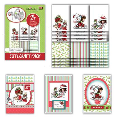 Polkadoodles Cute Craft Topper Pack - Winnie Winter Wishes