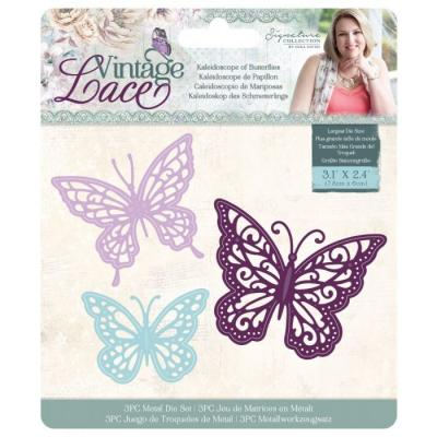 Crafter's Companion Sara Signature Dies Vintage Lace - Kaleidoscope of Butterflies