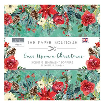The Paper Boutique Once Upon a Christmas Designpapier - Sentiments Pad