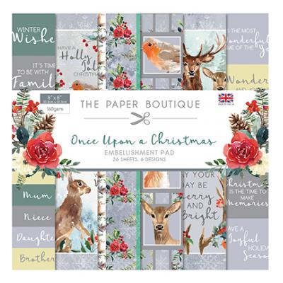 The Paper Boutique Once Upon a Christmas Designpapier - Embellishments Pad