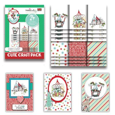Polkadoodles Cute Craft Topper Pack - Gnome Together Christmas