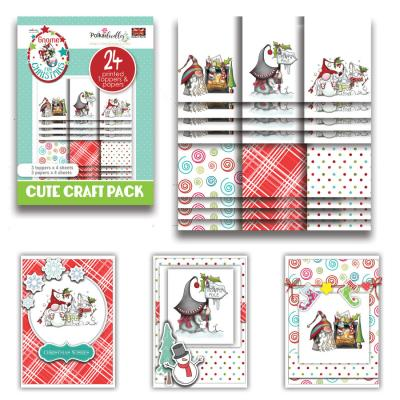 Polkadoodles Cute Craft Topper Pack - Gnome Fun Christmas