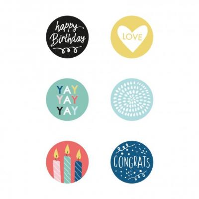 Kaisercraft Buttons - Oh happy day!