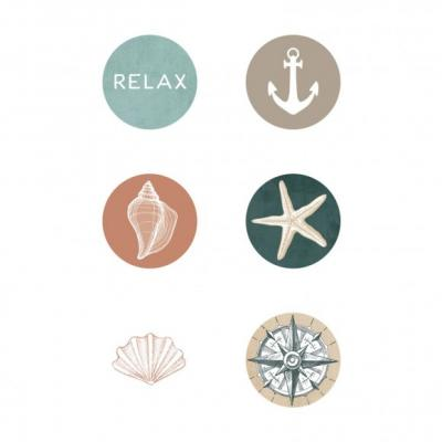 Kaisercraft Buttons - Uncharted Waters