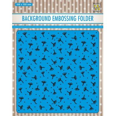 Nellie's Choice Embossing Folder - Hintergrund Fluff-Flaum