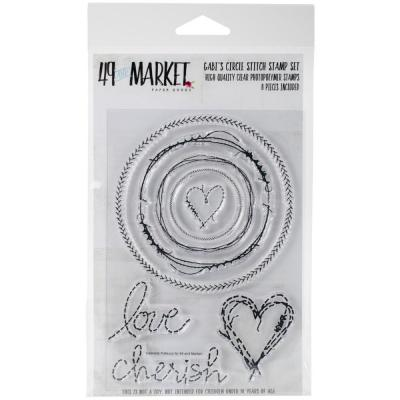 49 And Market Clear Stamps - Gabi's Circle Stitch