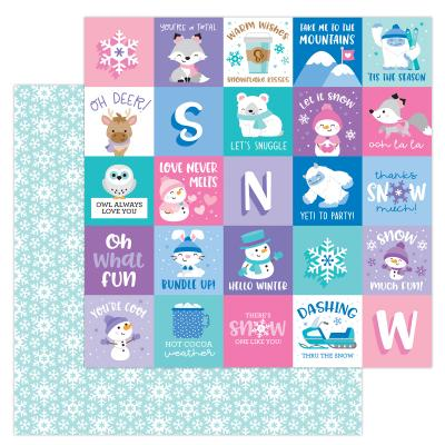 Doodlebug Winter Wonderland Designpapier - Snow Much Fun