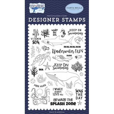 Carta Bella Fish Are Friends Clear Stamps - Under The Sea
