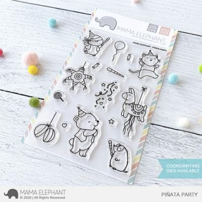 Mama Elephant Clear Stamps - Pinata Party