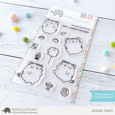 Mama Elephant Clear Stamps - Zodiac Tiger