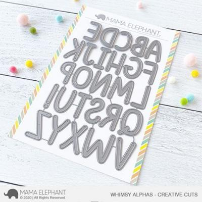 Mama Elephant Creative Cuts - Whimsy Alphas
