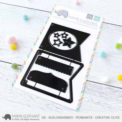 Mama Elephant Creative Cuts - Build A Banner - Pennants