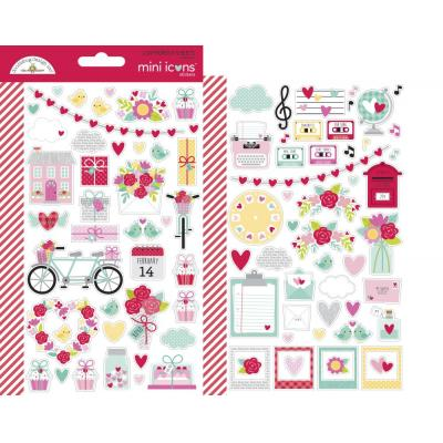 Doodlebug Love Notes - Mini Icons Sticker